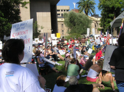 Patriots at the September 2009 TEA Party in Phoenix, AZ